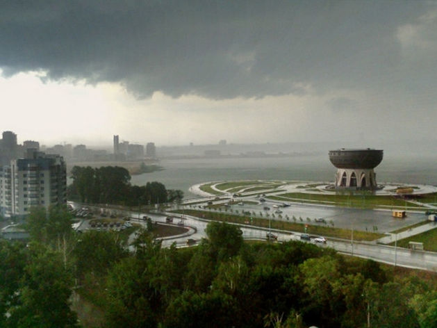 Синоптики Татарстана предупредили о надвигающейся грозе