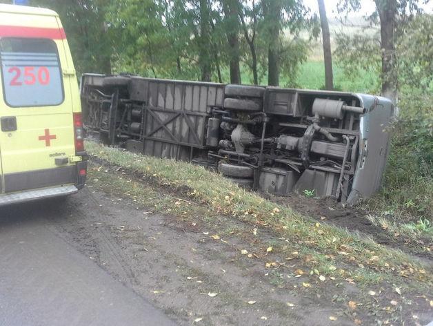 В Татарстане опрокинулся рейсовый автобус