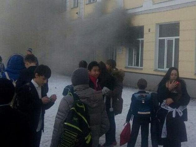 Пожар в 32 школе Казани потушен, дети эвакуированы //ФОТО