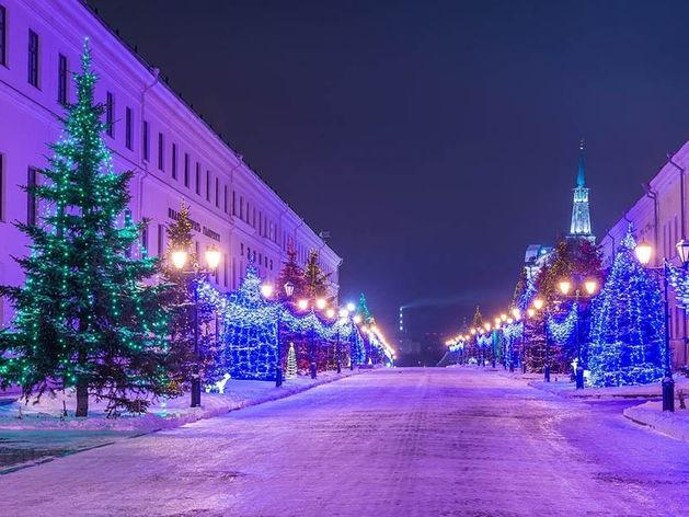 В новогодние каникулы жители Татарстана отдыхают 8 дней