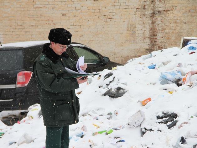 В центре Казани обнаружили свалку